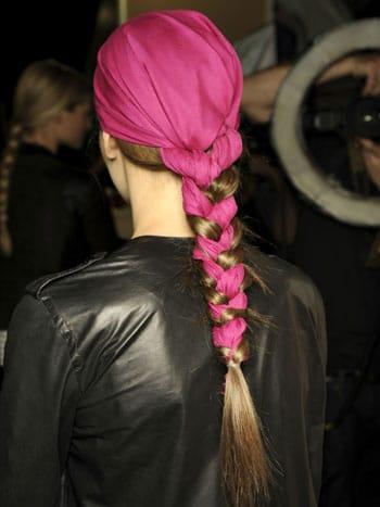 treccia e foulard
