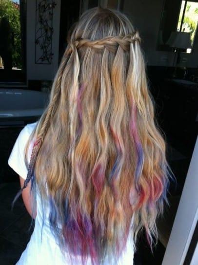 capelli colorati tecnica colombrè