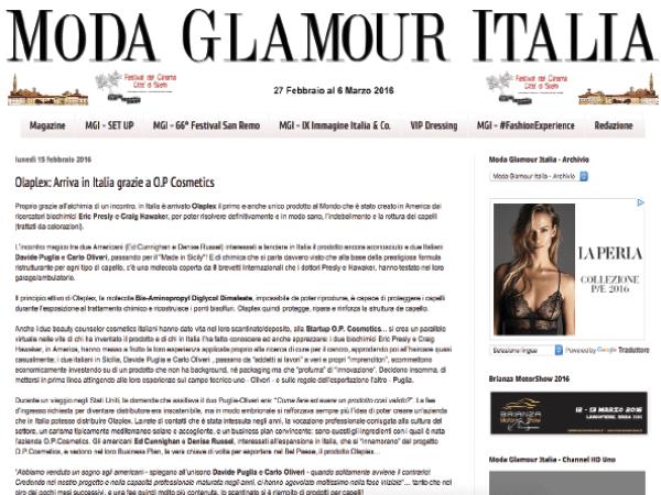Moda Glamour Italia parla di Olaplex
