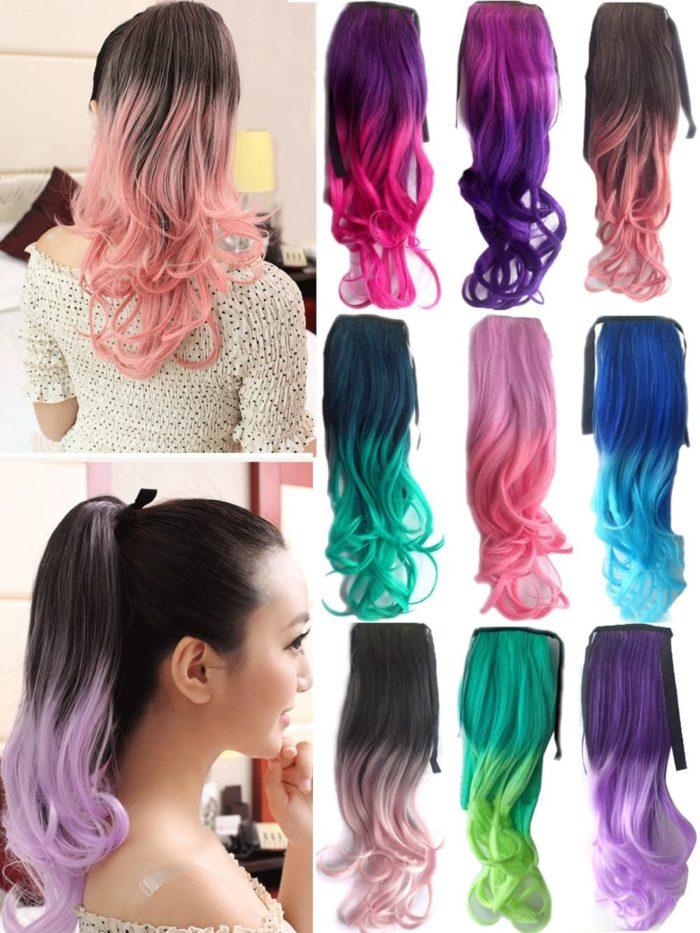 Extension capelli colorate