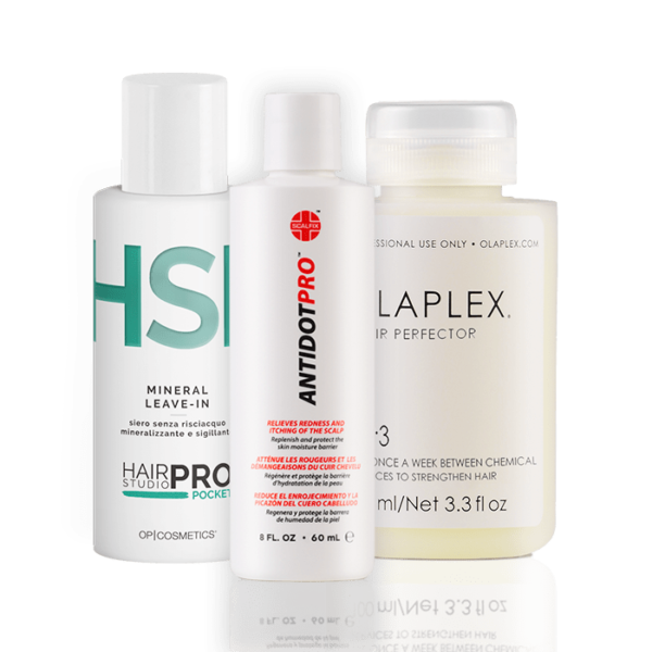 Antidot Pro + Mineral Leave-In HSP Pocket + Olaplex N°3