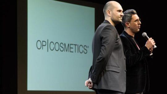 3 Davide Puglia e Carlo Oliveri all'evento OP Cosmetics