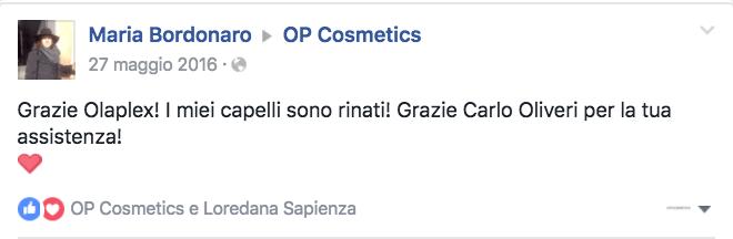 Dicono di noi OP Cosmetics Maria Bordonaro