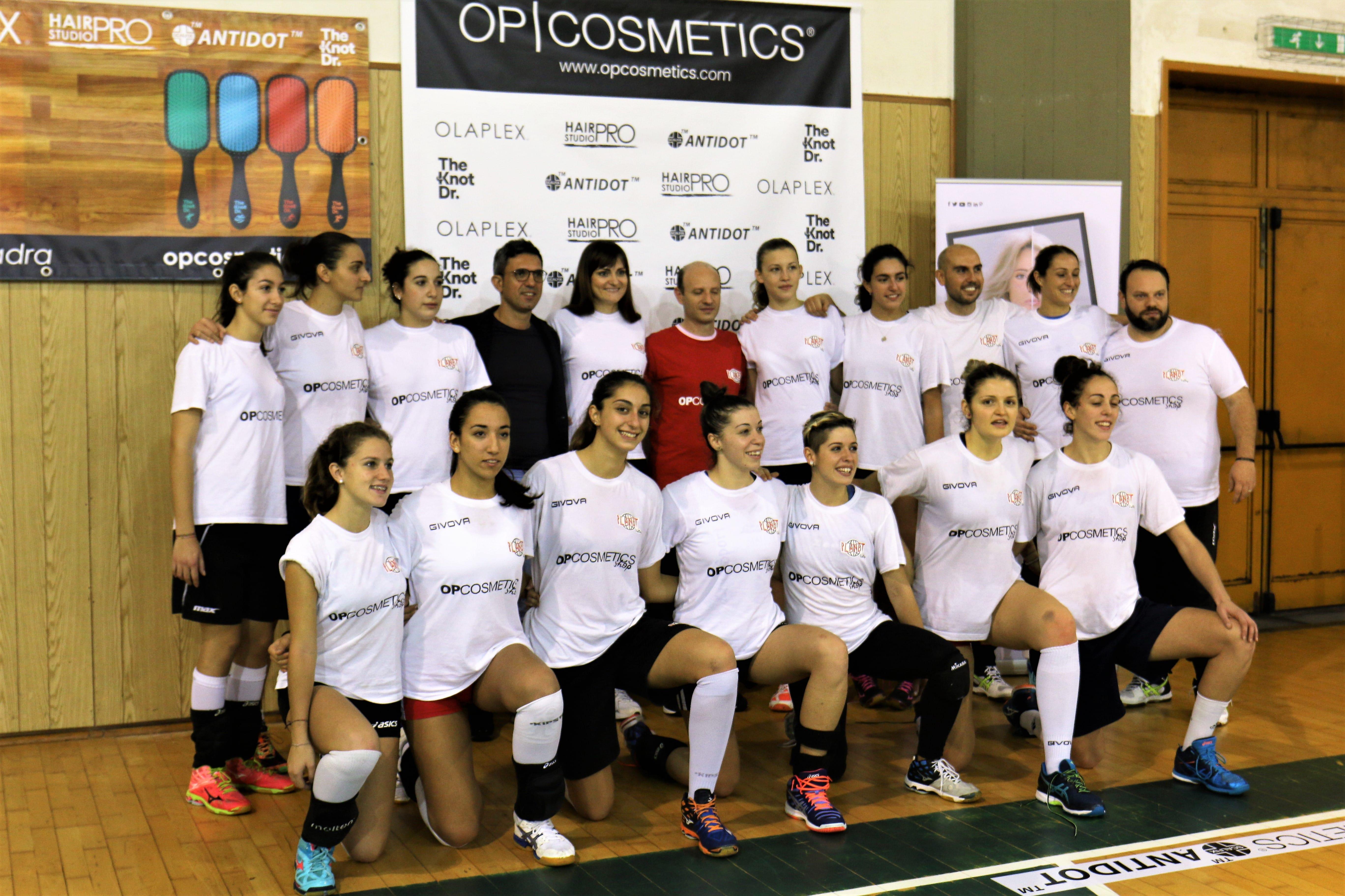 OP Cosmetics con Antonella Del Core e Planet Volley