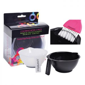 Set Ciotole Colore + Pettine Pulisci Pennello Two Pack Color Bowl Framar