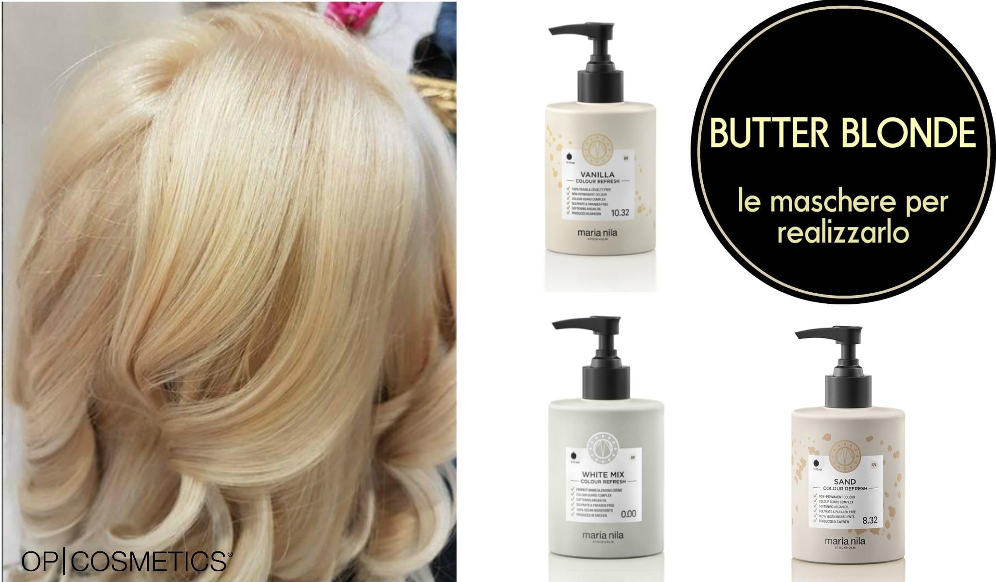 butter blonde capelli maschera