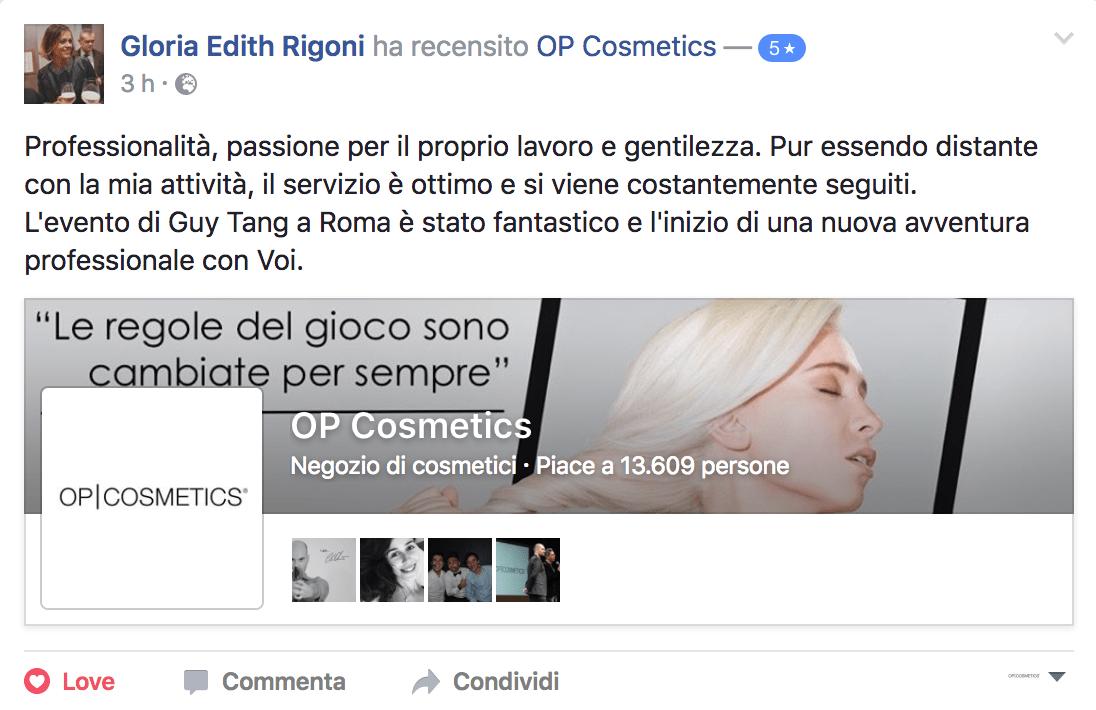 Dicono di noi Gloria Edith Rigoni