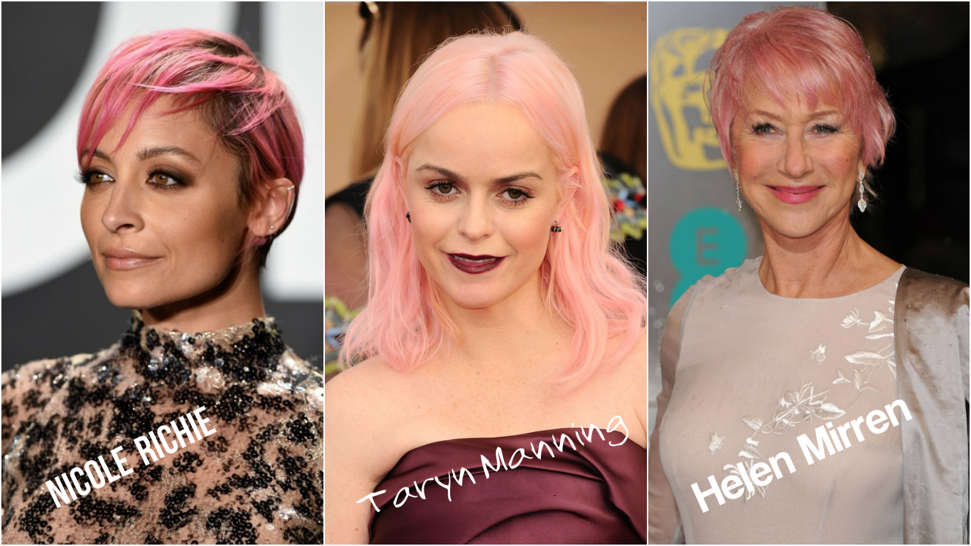 pink pastel hair 2017