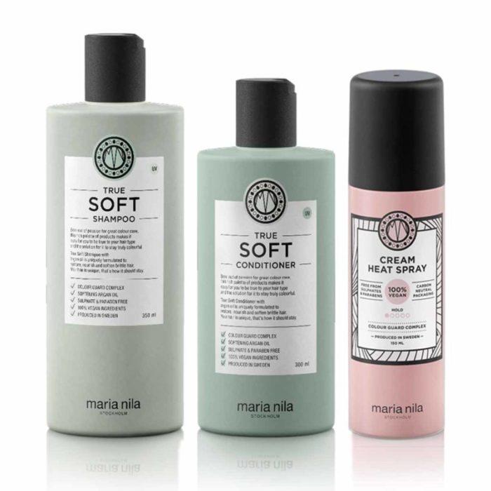 Kit Morbidezza Maria Nila: Shampoo + Conditioner + Spray