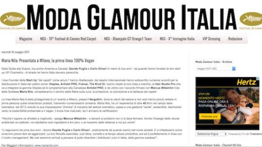 Moda Glamour Italia Maria Nila