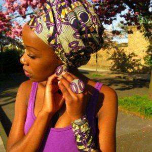 Turbante colorato etnico