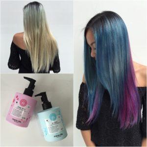 Pink Pop Azure Maria Nila Colour Refresh Capelli Azzurri Viola Rosa Prima Dopo