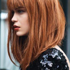 Tagli capelli 2018 con frangia