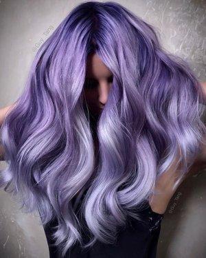 Capelli viola pastello