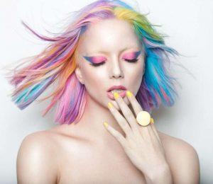 Caschetto carnevale arcobaleno rainbow