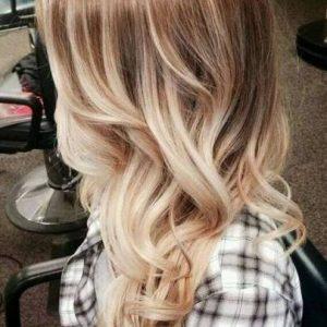 Shatush platino su capelli castani