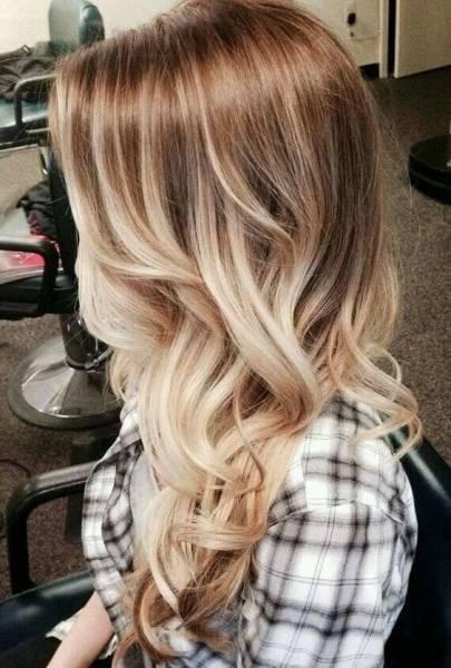 Contrasti su capelli lunghi
