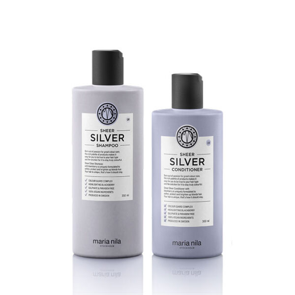 Kit Sheer Silver shampoo conditioner