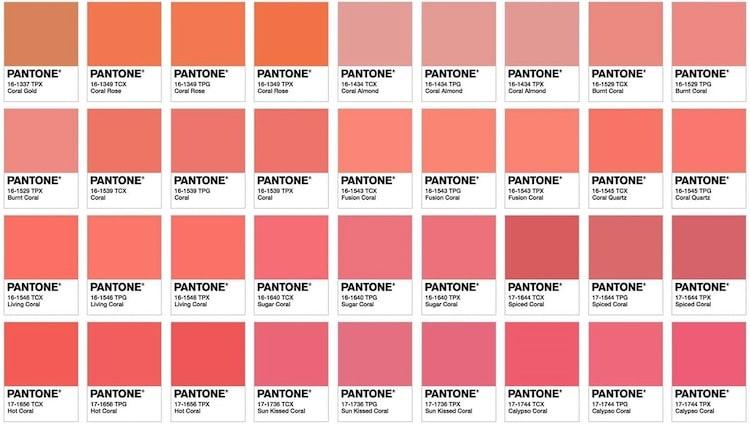 Pantone living coral 2019