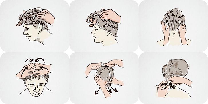 Tutorial massaggio capelli folti