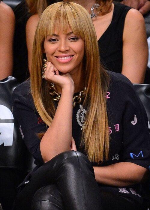 Beyonce blunt cut