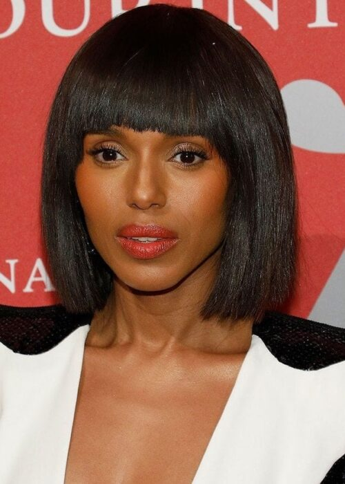 Kerry Washington blunt cut