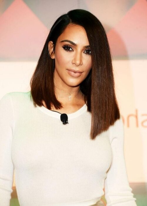 Kim Kardashian blunt cut