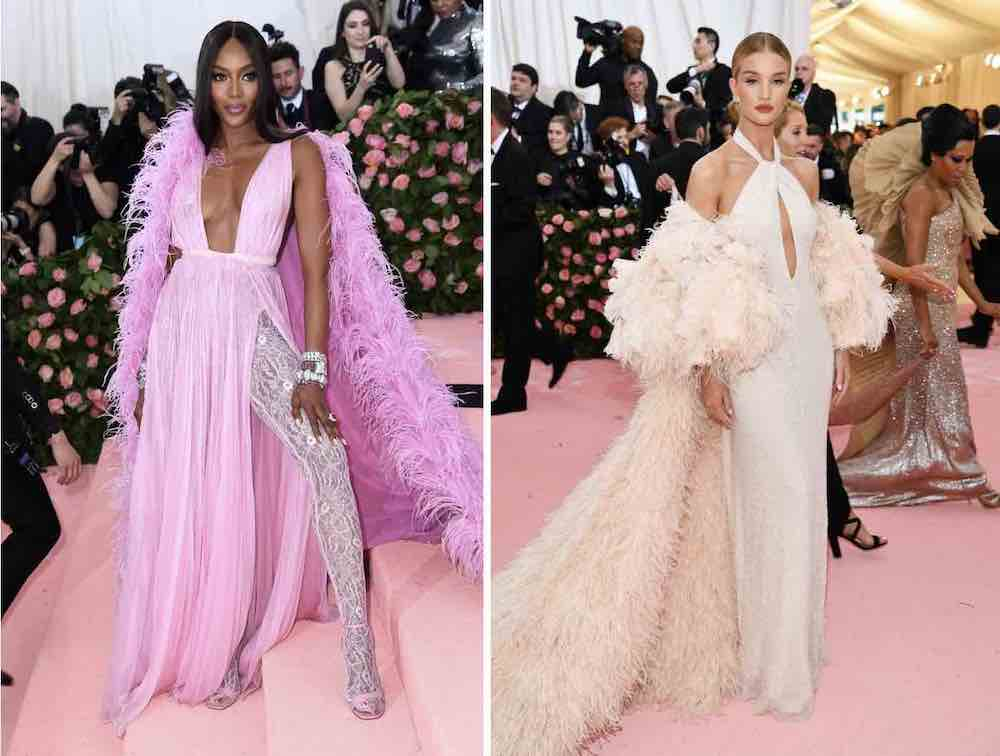 Naomi Campbell Rosie Huntington-Whiteley met gala 2019