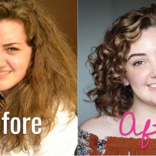 capelli ricci prima dopo