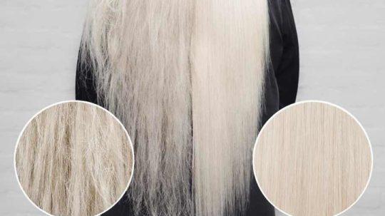 Botox capelli prima dopo op blonde