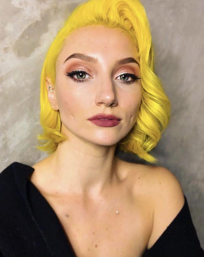 Tinta capelli giallo corallo