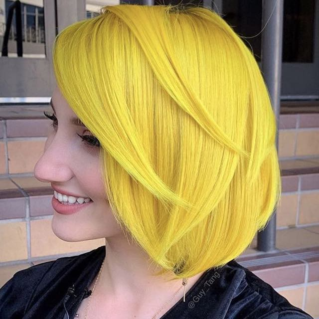 Colore capelli yellow coral