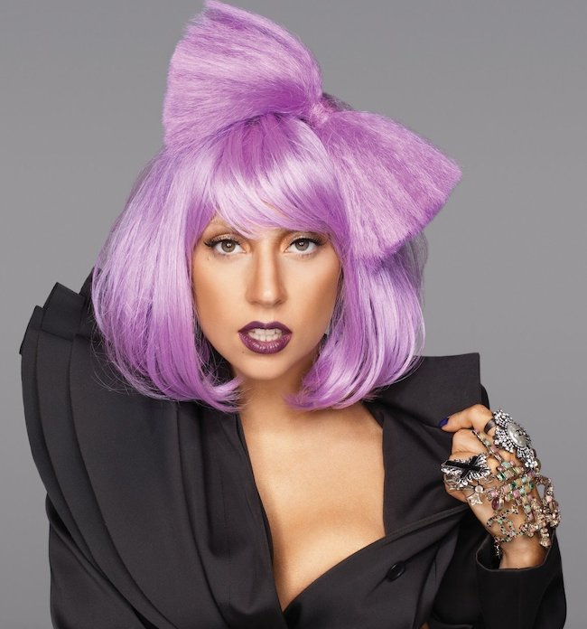 Capelli lavanda Lady Gaga