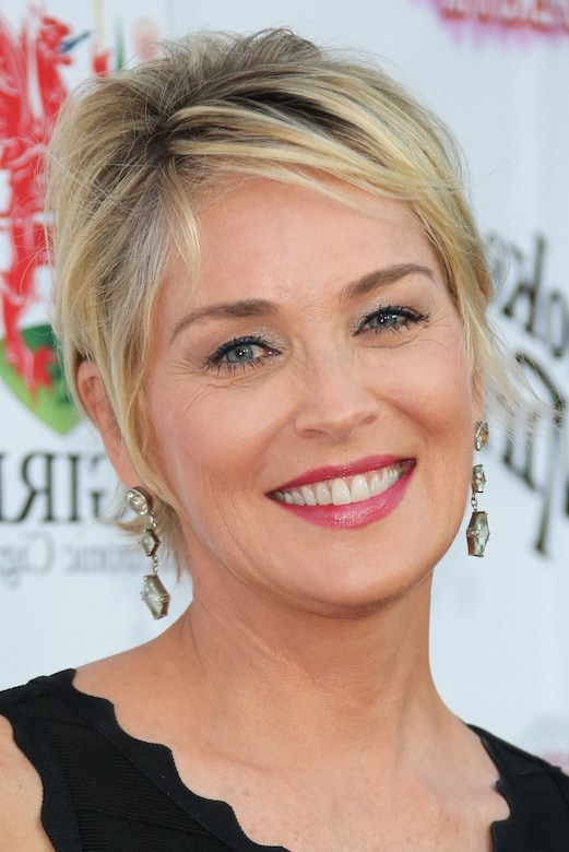 Sharon Stone pixie cut