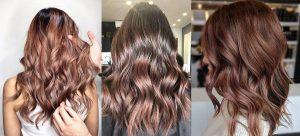 Colore capelli castano rosè