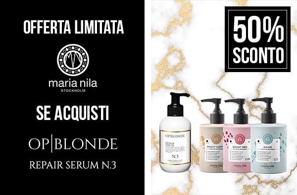 Promozione black friday colour refresh maria nila