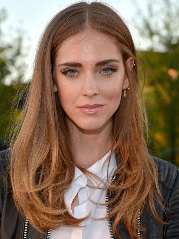 Chiara ferragni capelli castani