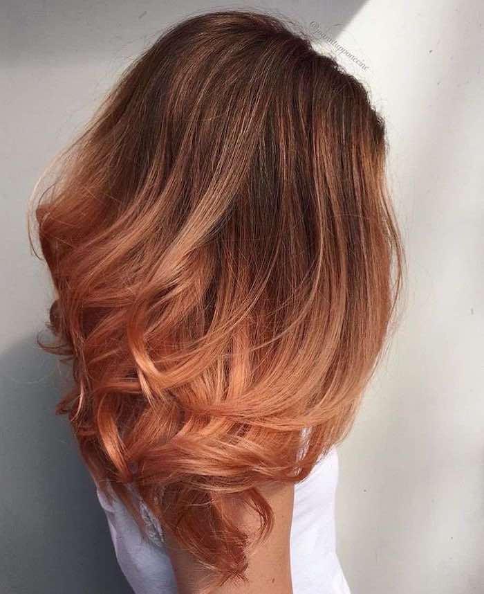 ginger peach balayage