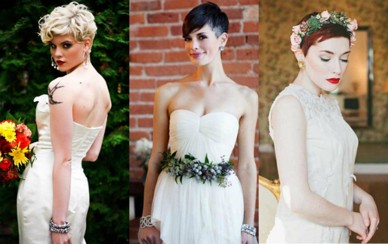 acconciature sposa capelli corti pixie cut