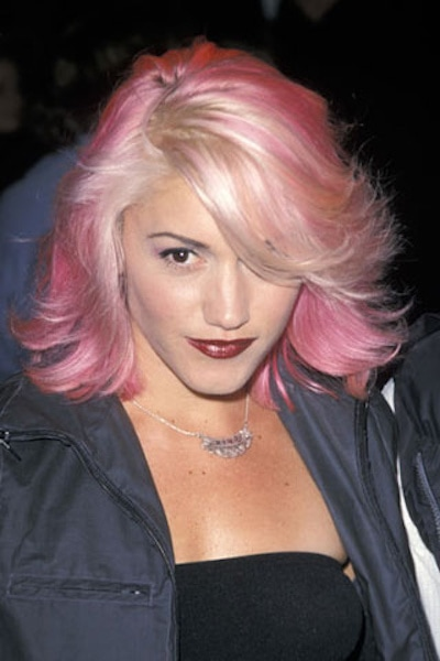 gwen stefani rose gold hair
