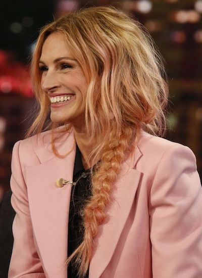 julia roberts rose gold hair