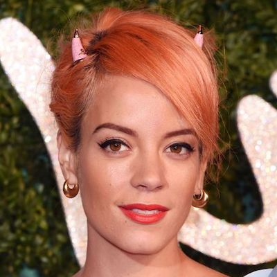 lily allen rose gold hair