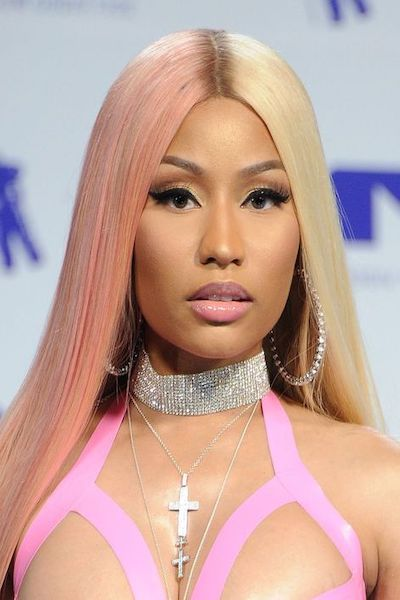 nicky minaj rose gold hair