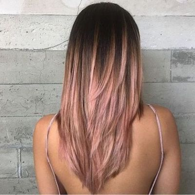 rose gold shatush