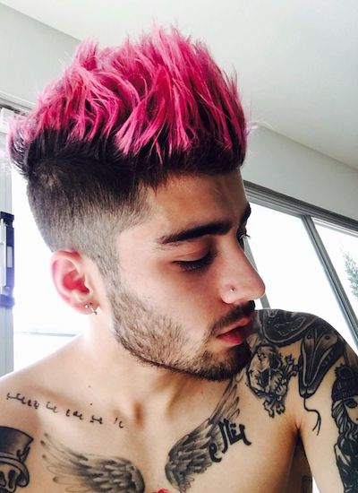 zayn malik rose gold hair