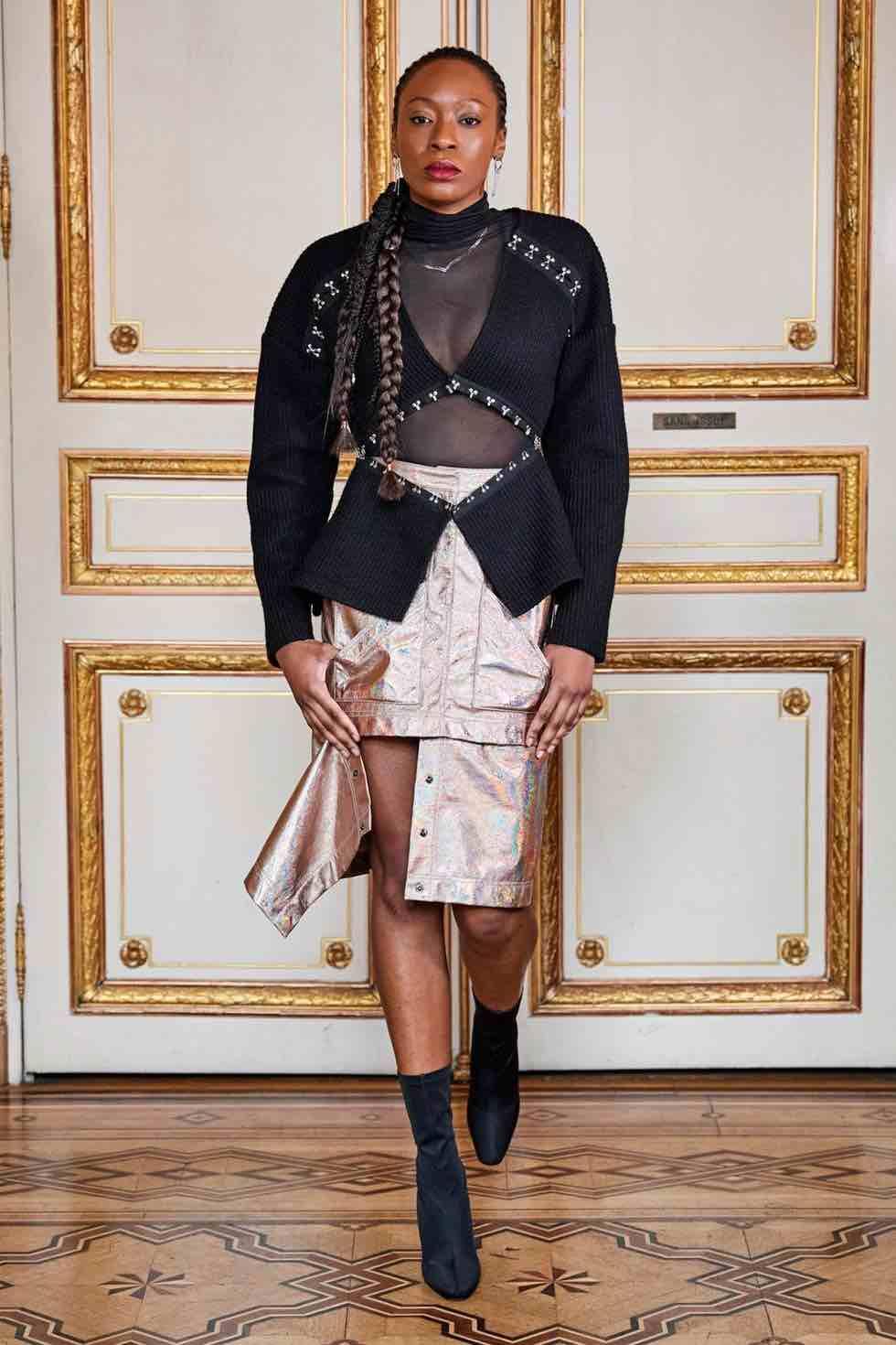 acconciatura trecce modella paris fashion week 2020