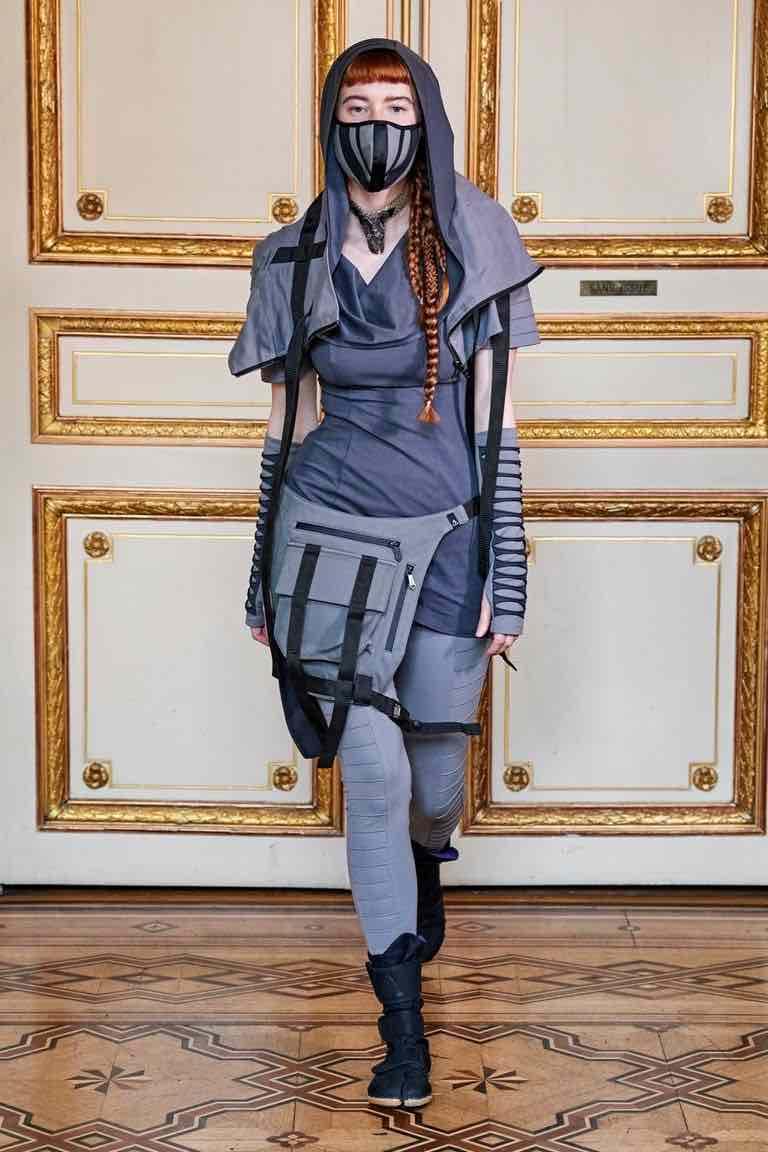 acconciatura trecce paris fashion week 2020
