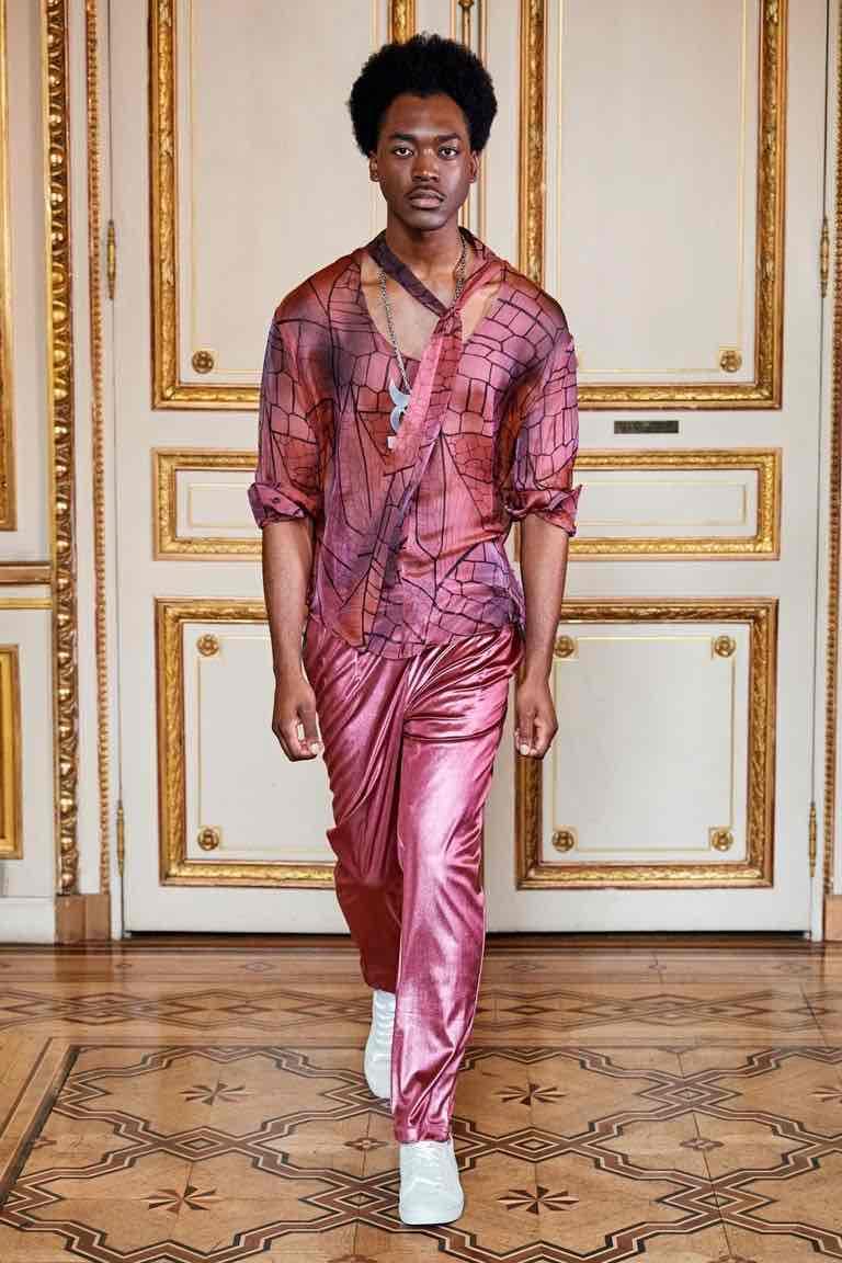 acconciatura uomo paris fashion week 2020
