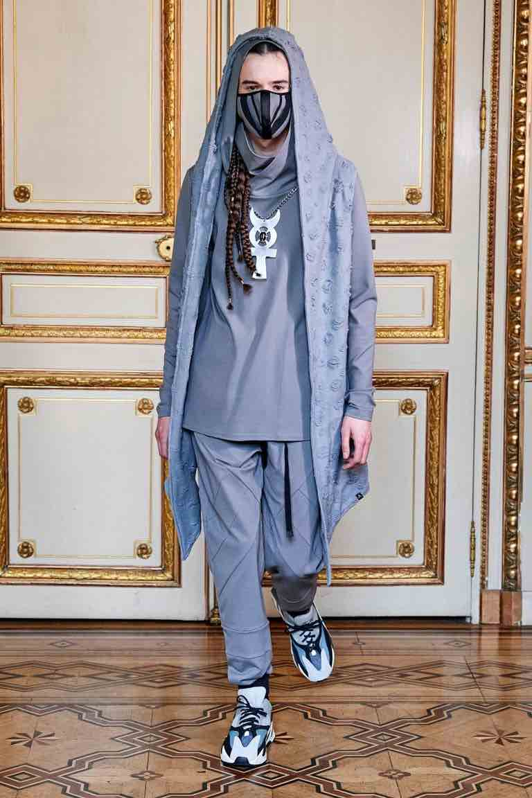 acconciatura uomo trecce paris fashion week 2020