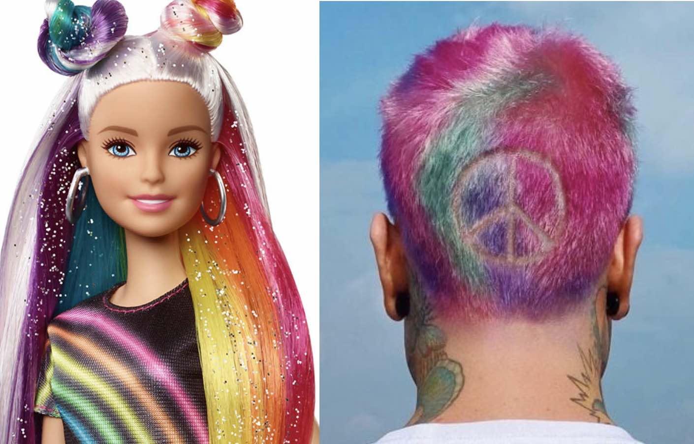 fedez capelli arcobaleno
